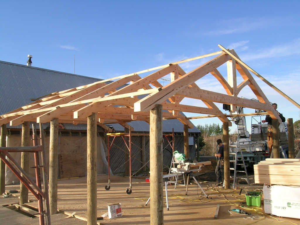 King Post Truss With Collar Tie Archives Timberworks
