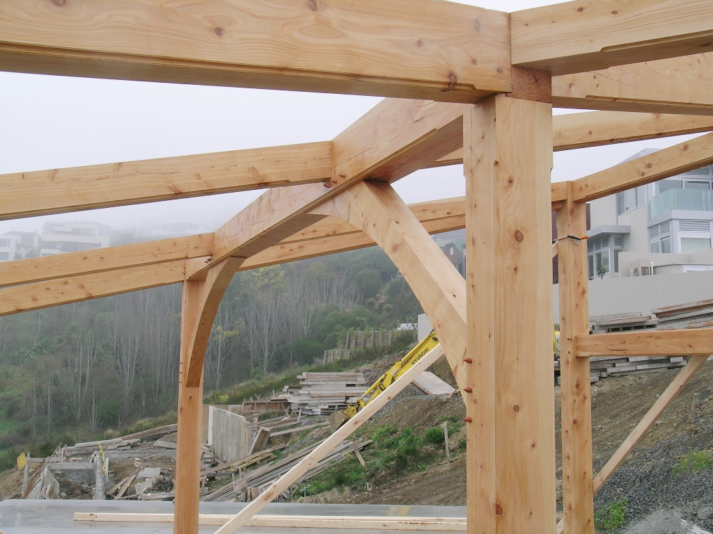 Skillion Frame Contemporary Mono Pitch Post And Beam
