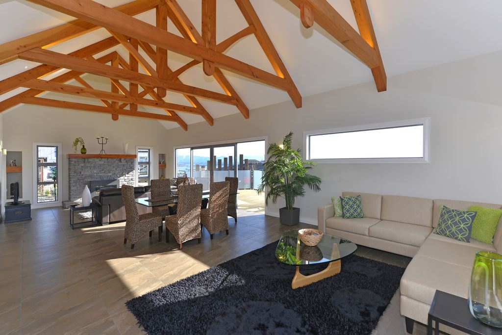 Exposed trusses in residential settings archives timberworks for Exposed roof truss design
