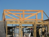 <h5>2 Rectangular trusses in place</h5>