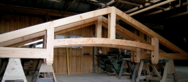 <h5>1 Tasman trusses nearing completion in the workshop</h5>