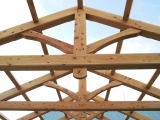 <h5>2. King-Post Trusses in place</h5>