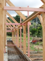 <h5>04 Preparation for the covered walkway and woodstore at rear</h5>