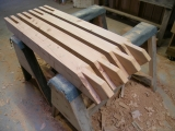 <h5>2 Gazebo timbers in the workshop</h5>