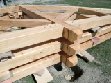 <h5>1. King and Queen Post Trusses ready for raising</h5>