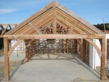 <h5>. King & Queen Post Trusses in the main house</h5>