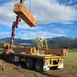 <h5>01 Day 1, unloading the timbers on site</h5>