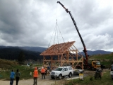<h5>4 Another Mohawk Frame going up in the Motueka Valley</h5>