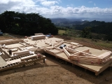 <h5>1 All timbers on site ready for raising in beautiful surroundings</h5>