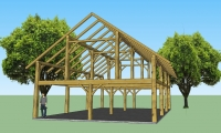 <h5>1  Sketch of Mohawk barn frame.</h5>
