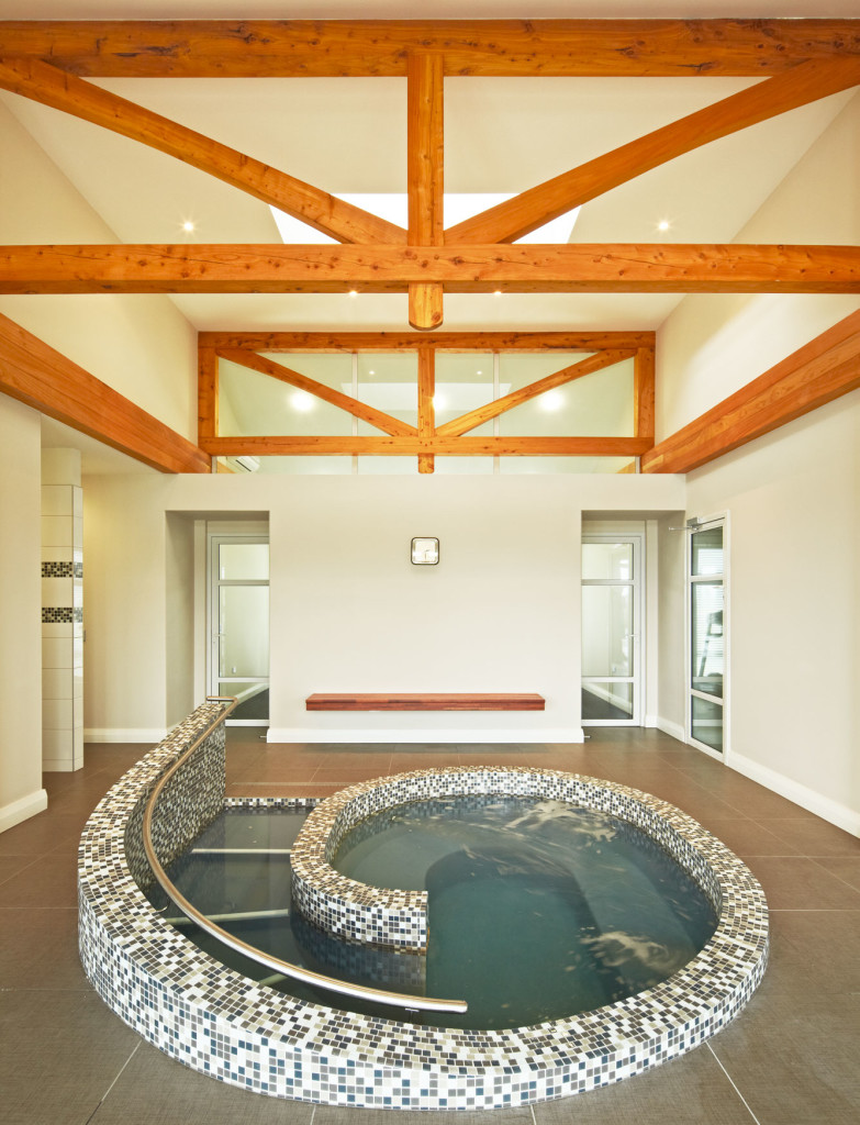 Rectangular Roof Truss at Gracefield Spa