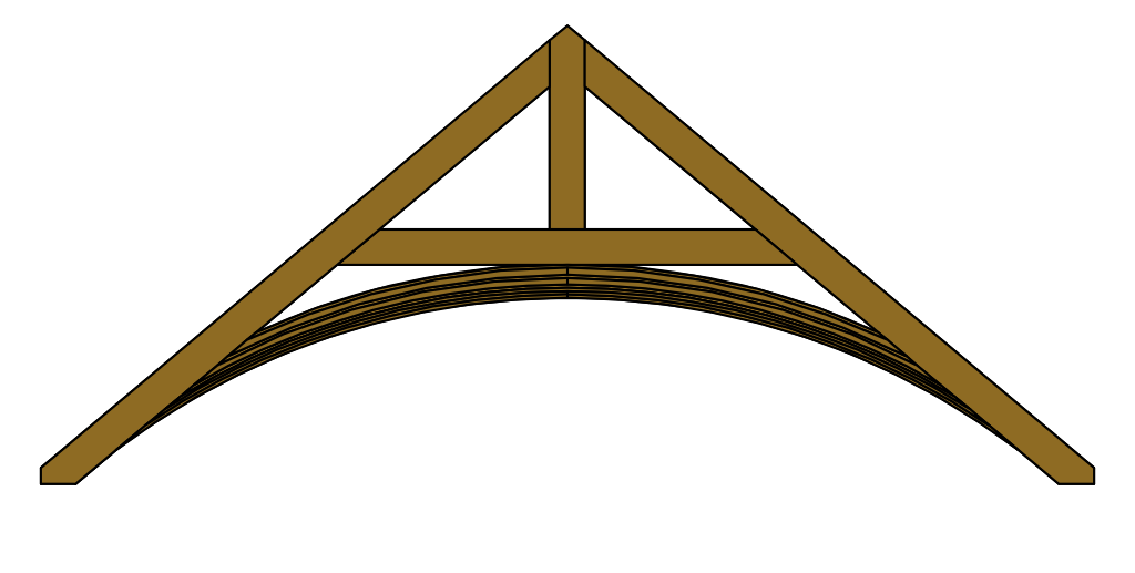 Arched-Brace Roof Truss