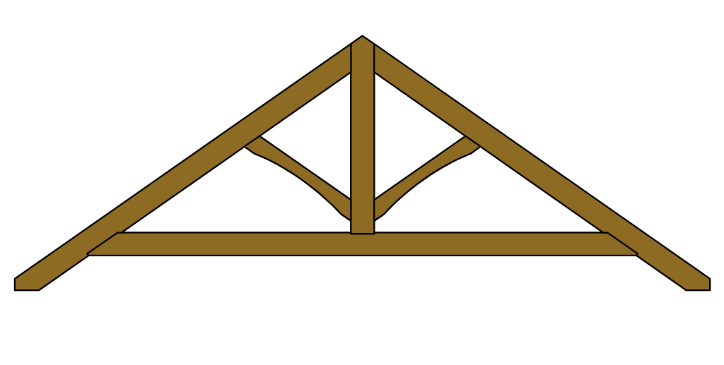 King Post Roof Truss with Collar-Tie