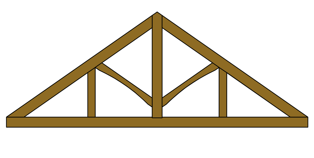 King-Post Roof Truss with Queen Posts
