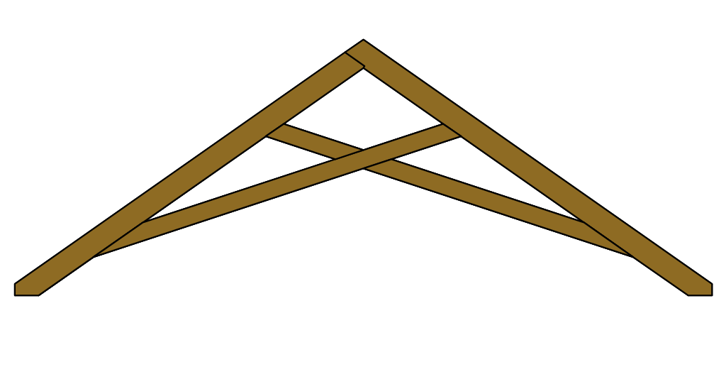 Scissor Roof Truss Drawing