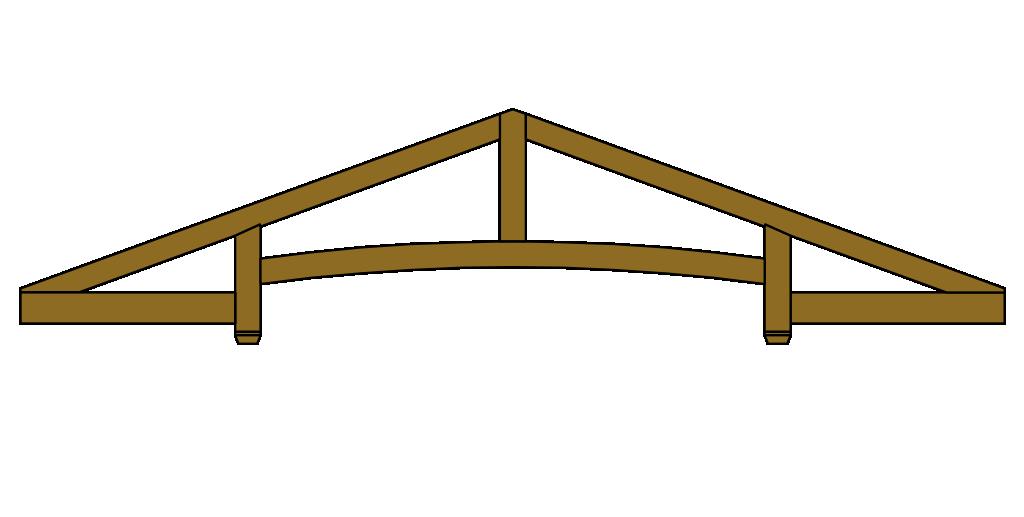 Roof trusses exposed decorative truss designs for Exposed roof truss design